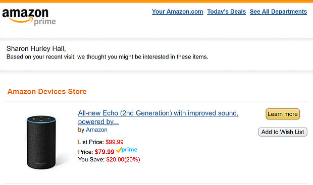 this-echo-email-shows-the-power-of-amazons-ecommerce-personalization-tools